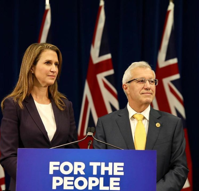 Caroline Mulroney and Vic Fedeli