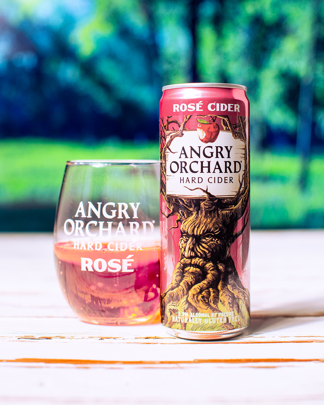 AngryOrchard Rosé is in the rare red-fleshed apples that are used as part of the blend, called Amour Rouge