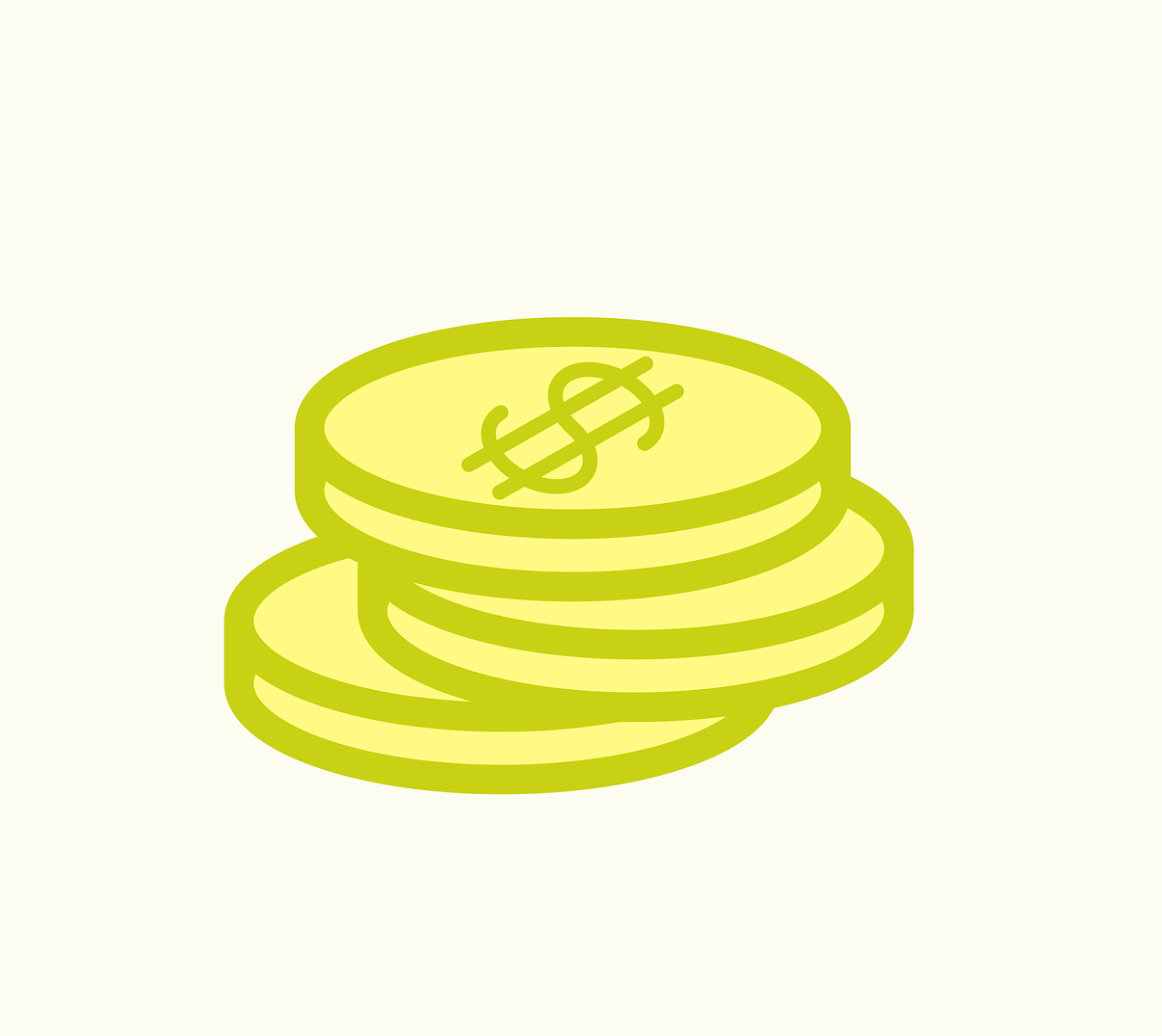 Illustration of stacked coins for personal finance article
