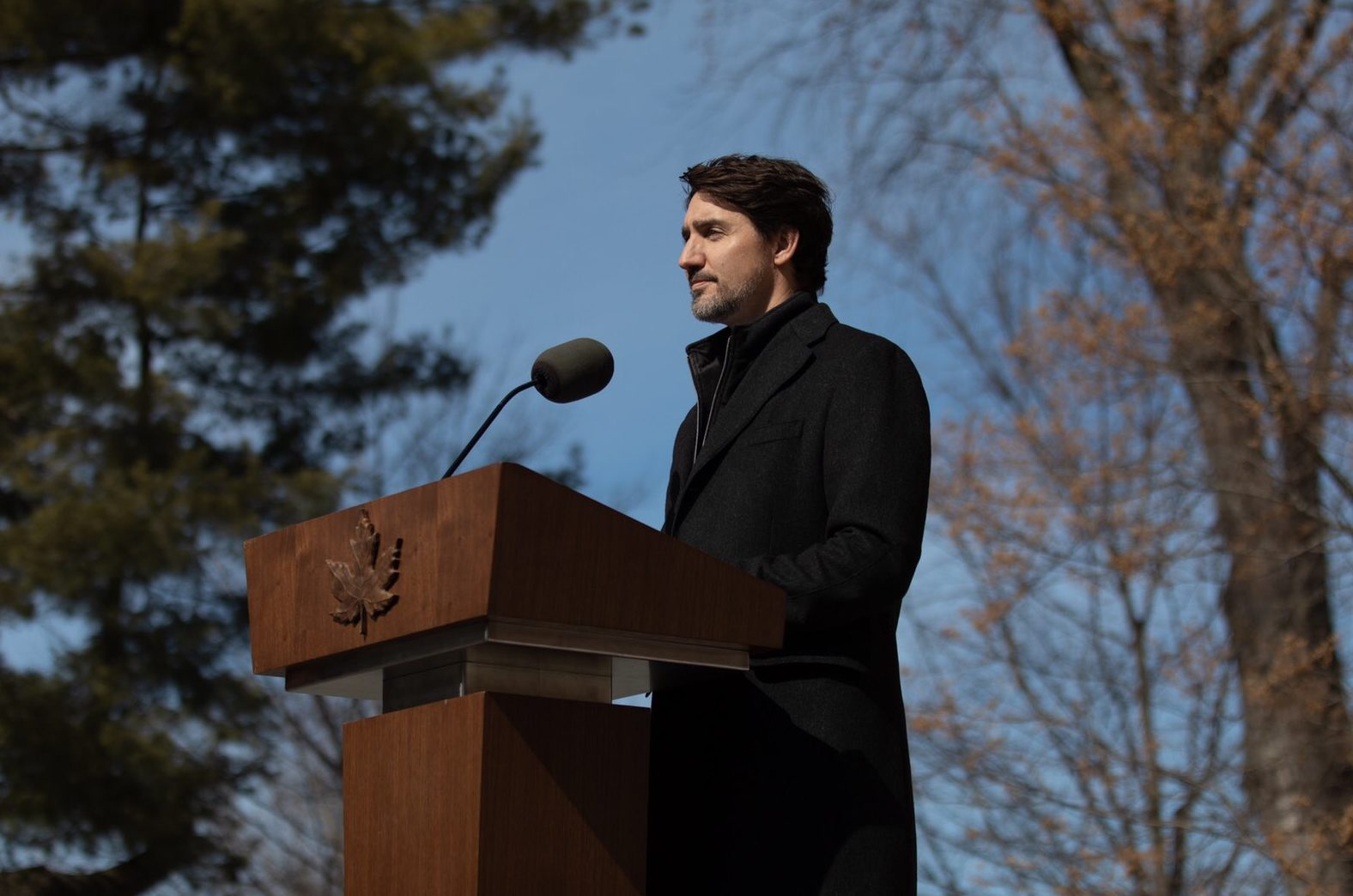 Justin Trudeau makes an announcement about the Emergency Relief Package for COVID-19