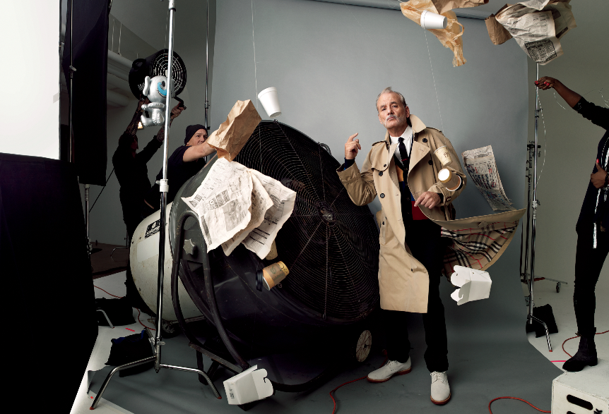 Jim Moore GQ Photo Shoot with Bill Murray