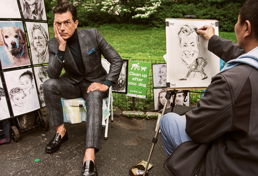 Comedian Stephen Colbert Poses for GQ Photo